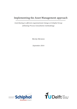 Implementing the Asset Management approach