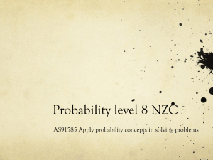 Probability level 8 NZC - CensusAtSchool New Zealand