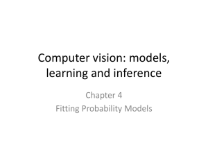 Computer vision: models, learning and inference