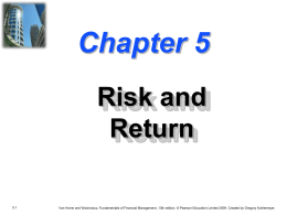 Chapter 5 -- Risk and Return