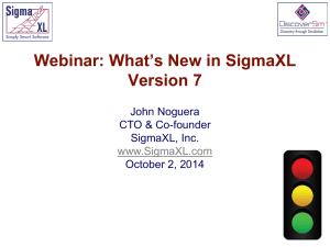 What`s New in SigmaXL Version 7