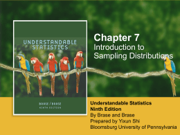 Chapter 7: Introduction to Sampling Distributions