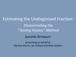 Estimating the Undiagnosed Fraction