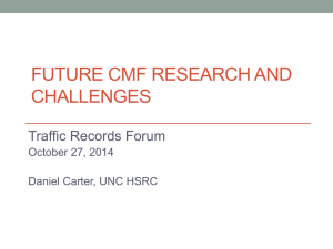 CMF - 2015 Traffic Records Forum