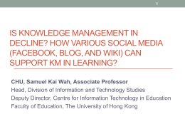 Knowledge Management using Social Media: A Comparative Study
