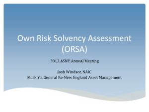Own Risk Solvency Assessment (ORSA)