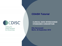 CDASH Tutorial