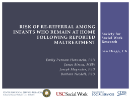 Risk of Re-referral among infants who remain at home