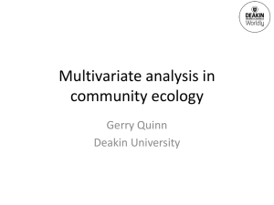 Gerry Quinn - Multivariate analysis in community ecology - Eco