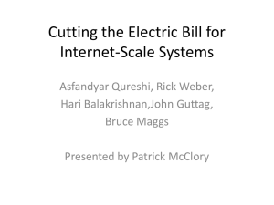 Cutting the Electric Bill for Internet