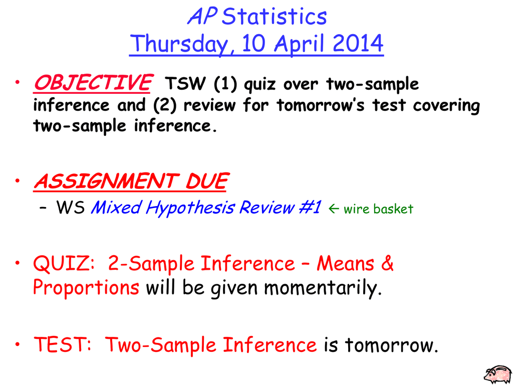 Test bank for inferences from two samples (elementary statistics.