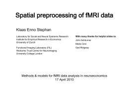 Spatial preprocessing of fMRI images