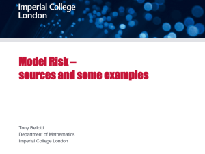 Model Risk sources and examples