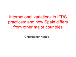 An accounting classification based on IFRS practices