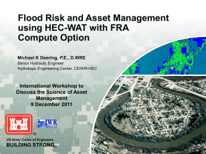 Flood Risk and Asset Management using HEC