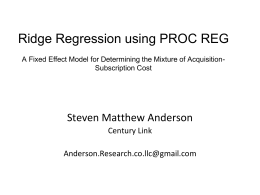 A Fixed Effect Ridge Regression Model with Interaction for