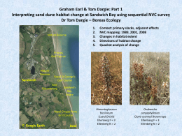 Mon_Earl & Dargie_Interpreting Sand Dune Habitat change at