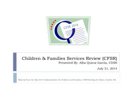 Children & Families Services Review (CFSR) 2016