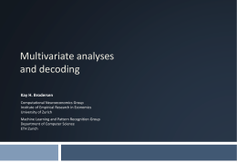 Multivariate analyses and decoding
