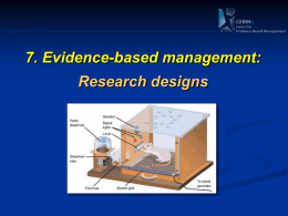 Module 8: Research Designs - Center for Evidence