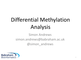 Differential Methylation lecture