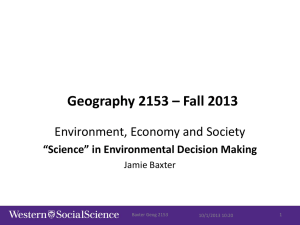 Role of science in environmental decision
