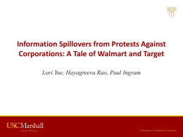 Information Spillovers from Protests Against Corporations: A Tale of