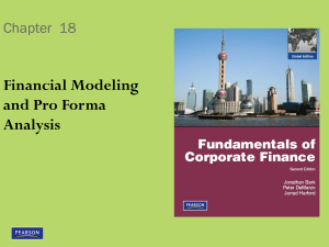 Financial Modeling and Pro Forma Analysis