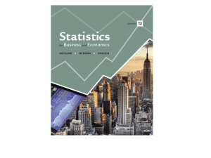 Slides for week 11 lecture 1 - Department of Statistics and Probability