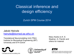 Statistical inference and design efficiency