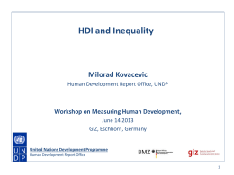 HDI and inequality - Human Development Reports