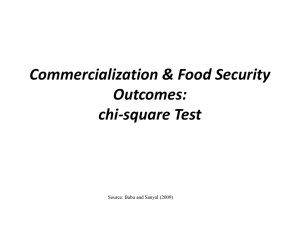 Analysis of Data for Measuring Food Availability, Access