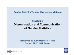 Dissemination of gender statistics