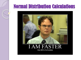 Normal Distribution Calculations State