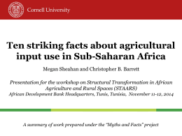 Ten striking facts about agricultural input use in Sub
