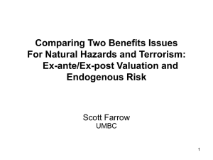 Comparing Two Benefits Issues For Natural Hazards and