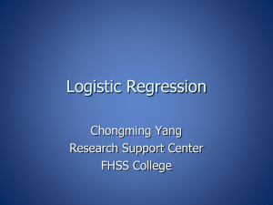 Logistic and Probit Regression