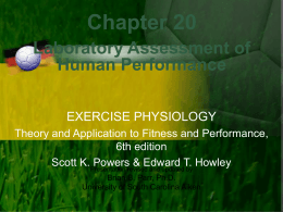Chapter 20 Laboratory Assessment of Human Performance