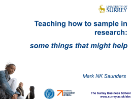 Teaching how to sample in research