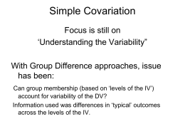 Simple Covariation