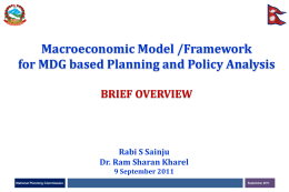 Macroeconomic Model - National Planning Commission