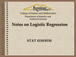 STEP 7: Logistic Regression Modeling and Interpretation of Output