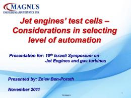 Jet engines` test cells - MAGNUS