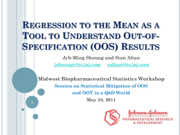 Regression to the Mean as a Tool to Understand Out