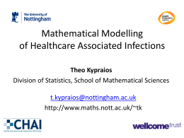 Mathematical modelling - School of Mathematical Sciences