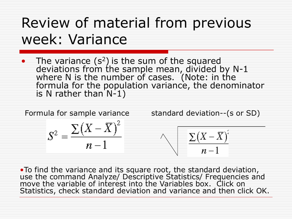 standard deviation formula n-1  Standard Deviation and Normal Distribution