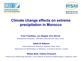 Climate change effects on extreme precipitation in Morocco.