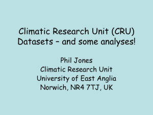 Climatic Research Unit (CRU) Datasets