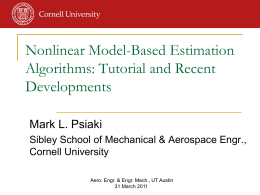 Nonlinear Model-Based Estimation Algorithms
