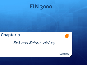 Risk and Return: History